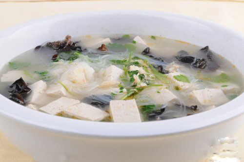 Dried White Black Fungus Soup